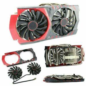 Fuer-MSI-GTX960-RX470-480-570-580-Grafik-VideokarteKuehler-GPU-Kuehlung-Luefter-4Pin