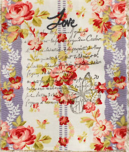 Fabric-Sample-11-cm-x-Wide-x-14-cm-High-Cotton-Shabby-Chic-Style-Raw-edge