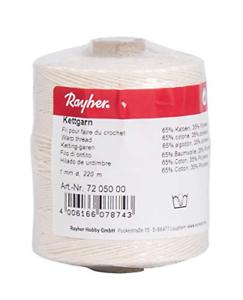 Hilo de urdimbre Rayher Blanco 6Ply 1mm hilo de urdimbre