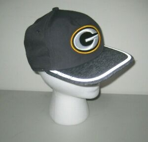 NFL-Green-Bay-Packers-New-Era-9Fifty-Adjustable-Fit-Gray-Snapback-Hat-Cap-NEW