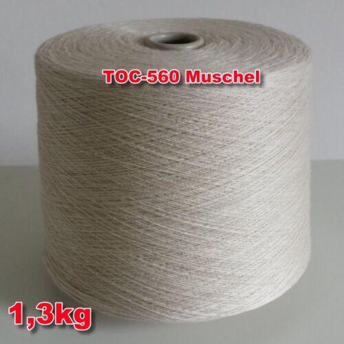 560 Muschel TVU Ocean Nm 30//2  Baumwolle Acryl Strickgarn Häkelgarn Garn Kone