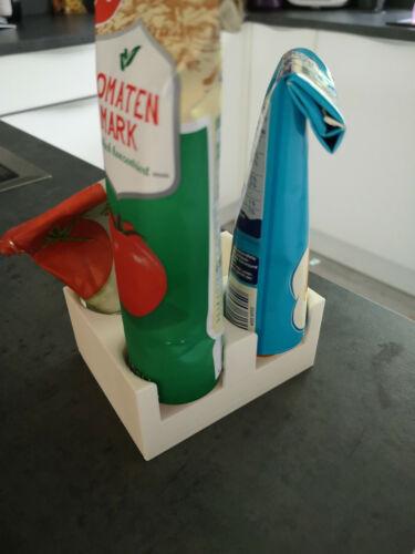 Ordnung Tubenständer versch Farben Tubenhalter Kühlschrank Aufbewahrung