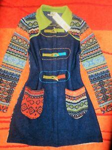 edel 38 ivko wolle 42 hippie folklore Wunderschöne 40 mantel Jacke gr neu zYIxwq