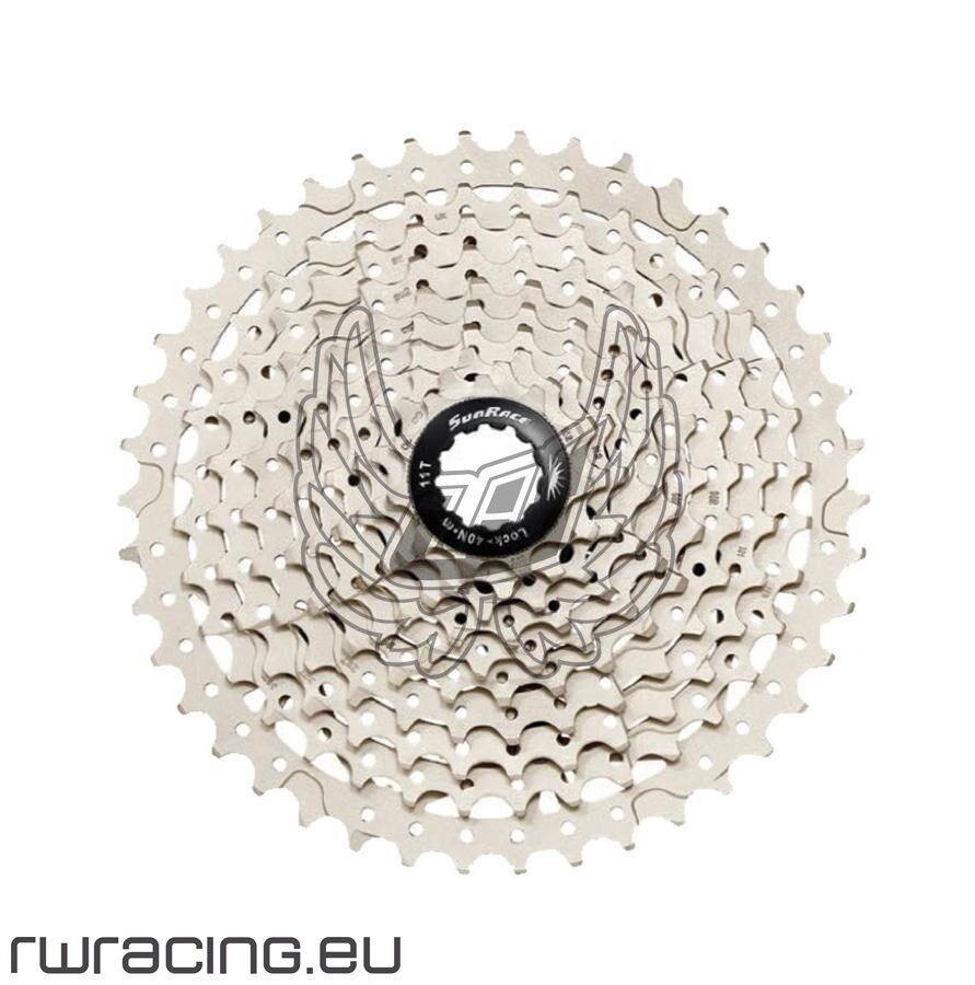 Cassetta pignoni Sunrace 11-42 a 10v per bici   mtb a corpetto Shimano