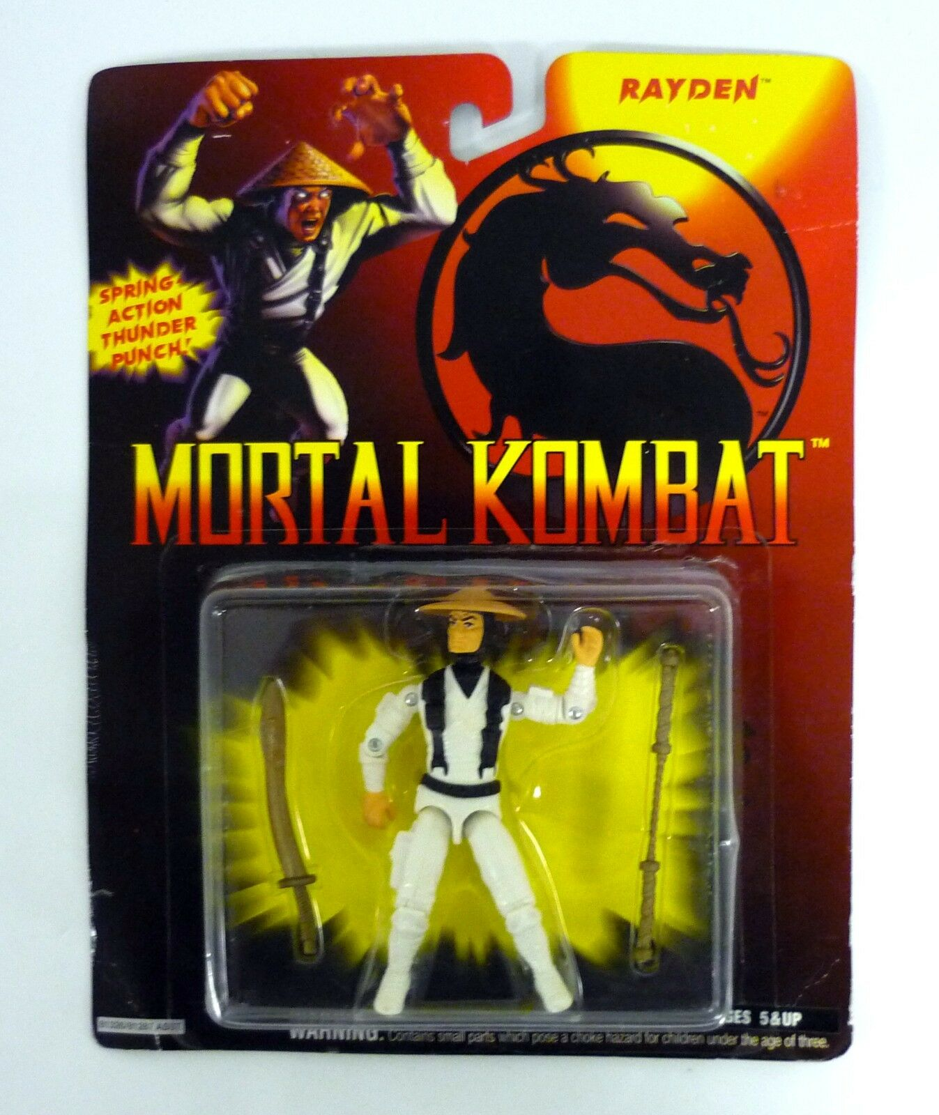 Mortal Kombat Rayden Vintage Gi Joe Action Figure Moc Completo 1994