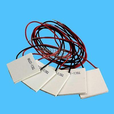 5Pcs 12V 60W TEC1-12706 Heatsink Thermoelectric Cooler Peltier Cool Plate Module