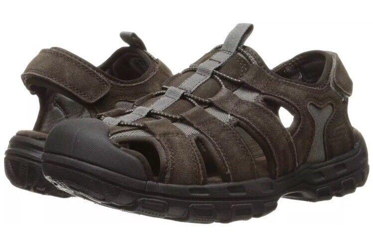 Men's Skechers 64641 BRN Garver Selmo Brown Fisherman Sandals Size 12