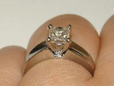 WOW SALE PT900 GIA Platinum Princess Cut Diamond Ring 7.2Gms 1ct. H-VVS2 Sze6.5