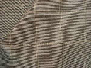 4-yds-Luxury-WOOL-Suiting-Super-fine-110s-FABRIC-10-oz-Taupe-Plaid-150-034-BTP