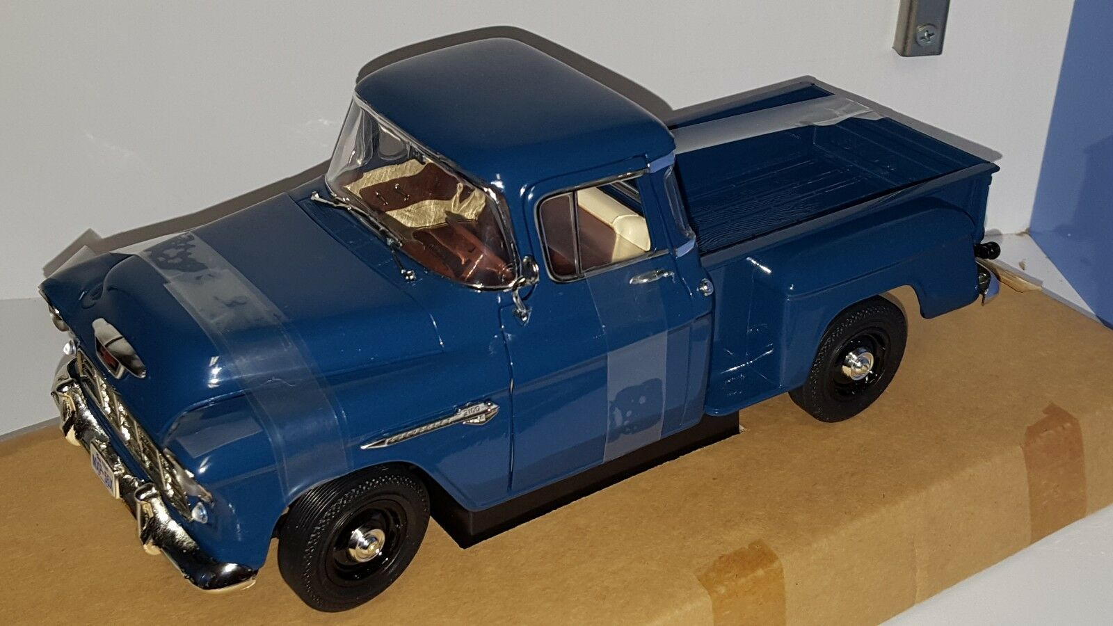 1 18 ERTL CRUISIN' SERIES OSCAR'S OSCAR'S OSCAR'S GAS STATION 1955 CHEVROLET STEP SIDE blueE  od eabc68