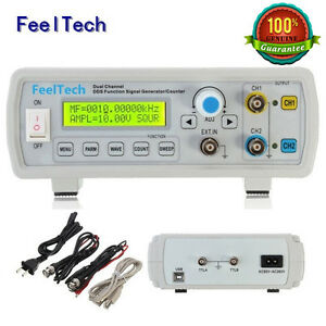 FeelTech-6-24MHz-CNC-Dual-Ch-DDS-Function-Signal-Generator-Sweep-Frequency-Meter