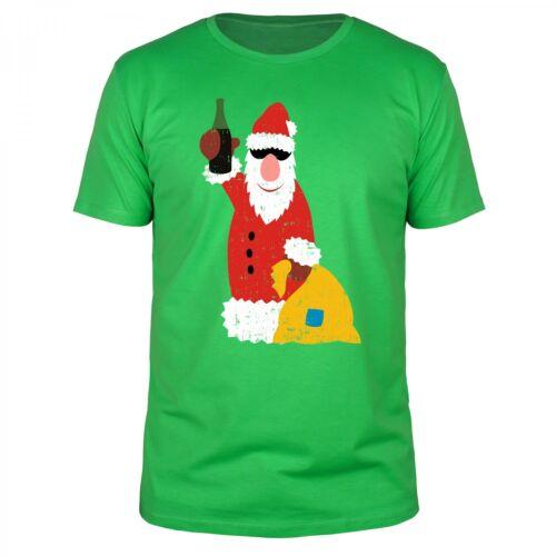 Drunk Santa Glühwein Weihnachtszeit Weihnachten Geschenk Männer Fun Shirt