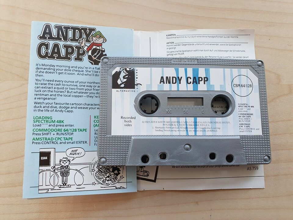 ** SOLGT ** Andy Capp, Commodore 64
