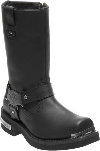 HARLEY-DAVIDSON FOOTWEAR Men/'s Charlesfort Black Leather Motorcycle Boots D96149