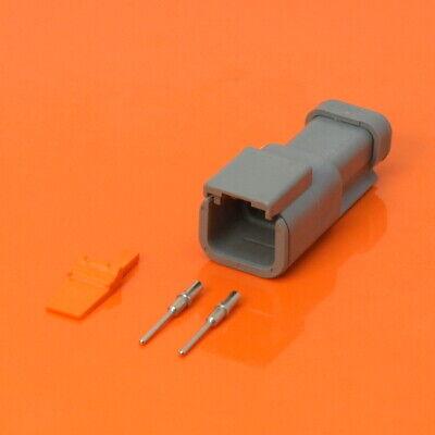 Deutsch DTP Series 2 Way Socket Connector KIT dtp04-2p Pins /& wedglock dtp042p