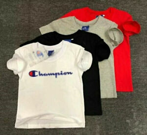 2-14Y Kids/' Boys Girls Sports Short-sleeved T-shirt 4 Color coat TOP