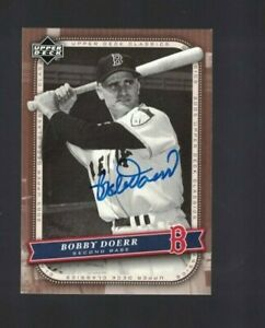 Bobby Doerr Boston Red Sox Signed 2005 UD Classics Baseball Card W/Our COA
