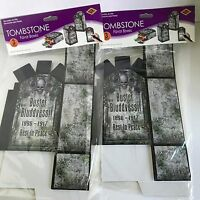 Halloween Tombstone Favor Treat Boxes 6 Pc Candy Cookies Nip