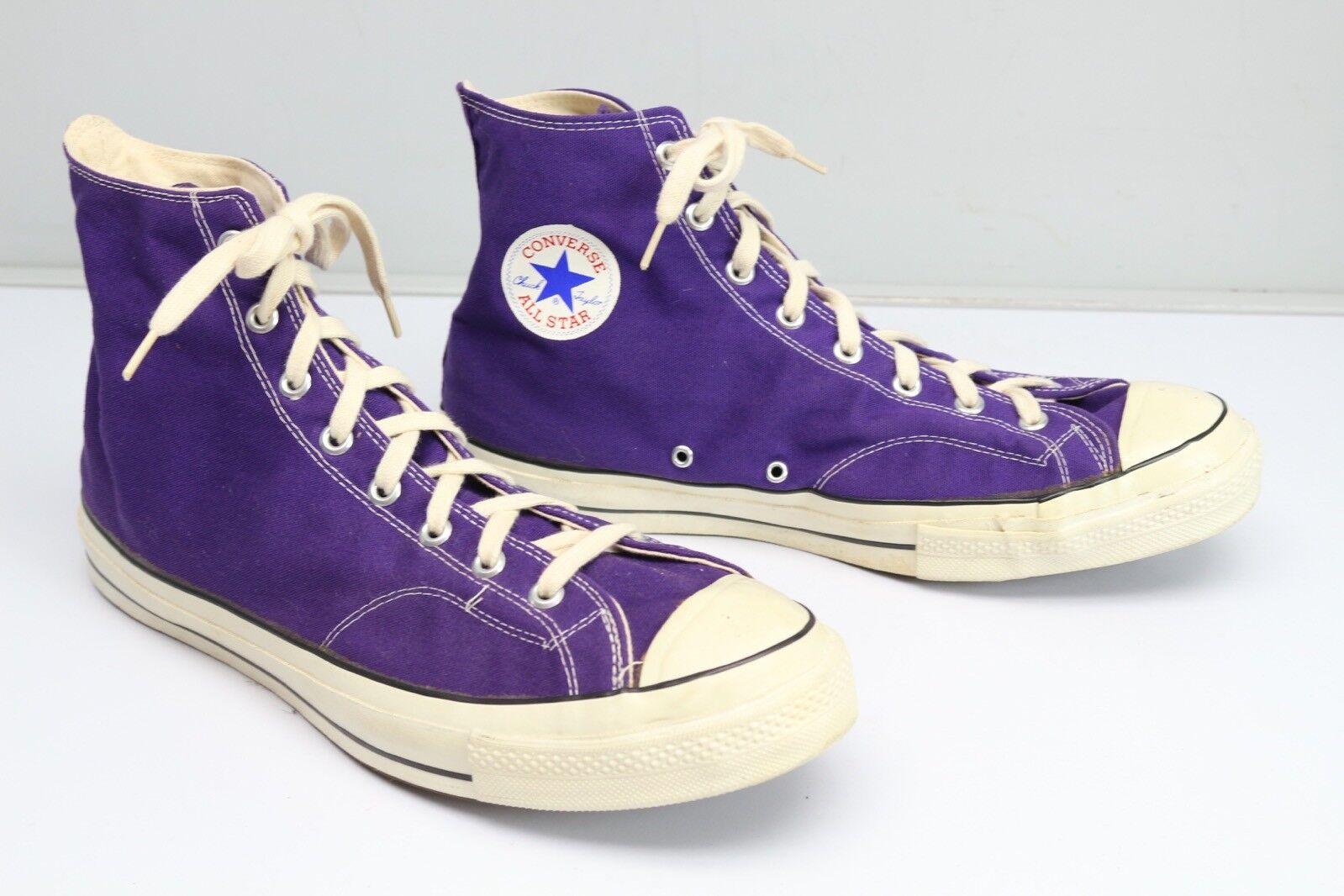 Nos Vtg Années All 1970 Converse All Années Star Chuck Taylor Violet 14.5 Étiquette Noire cad7c6