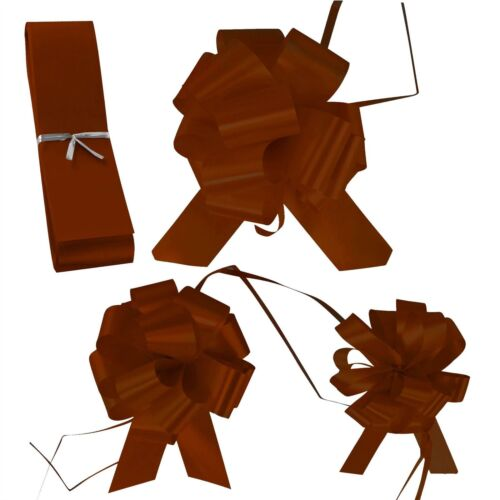 Brown Wedding Florist Pullbows Pull Bow Pew Car Ribbon 18mm 30mm 50mm Size