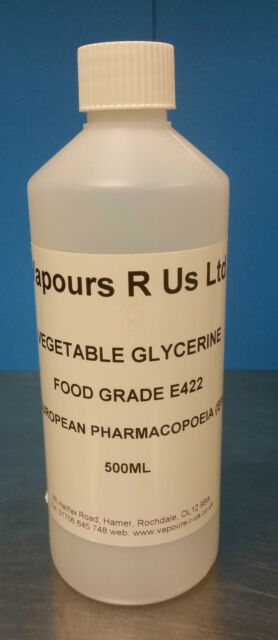VEGETABLE GLYCERINE FOOD GRADE (E422)   (EP) COSMETIC GRADE (KOSHER)