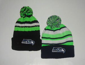 Seattle Seahawks Winter Pom Beanie Skull Cap Hat Pick Your Style ... 5f7b57ca6bf7