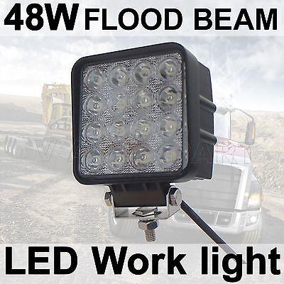 48W Flood LED Off road Work Light Lamp 12V 24V for car boat Truck Driving UTE