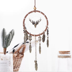 Brown-Ring-Chained-Iron-Pendant-In-Leaves-and-Antler-Shapes-Good-Gift-amp-Decor-LZ