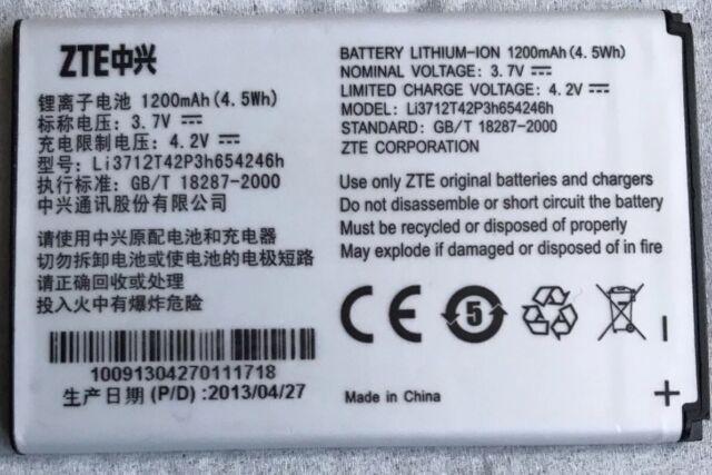 GENUINE ZTE BATTERY (Li3712T42P3h654246h) FOR FIREFOX OS / A6 AC30 * UK SELLER *