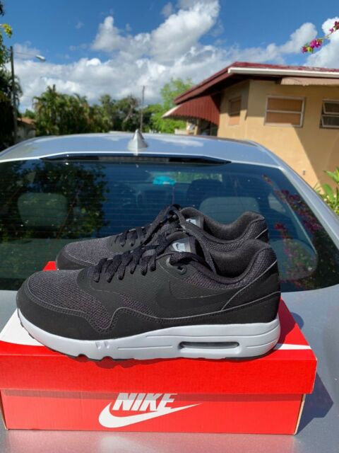 0ef91fb566 NIKE AIR MAX 1 ULTRA 2.0 ESSENTIAL BLACK WOLF GREY 875679-002 MEN'S Size 9