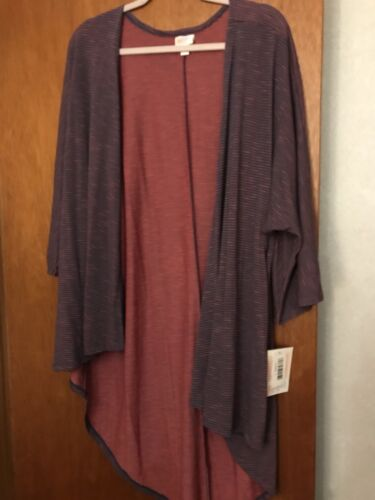 Stripes Lindsay Stretchy Lularoe Tonica micro Two W Purple Super Nwt Large q76xzz