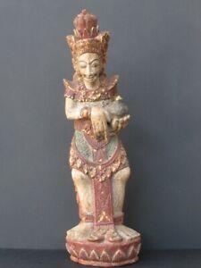 Antigua-Estatuilla-de-madera-tallado-BALI-INDONESIA