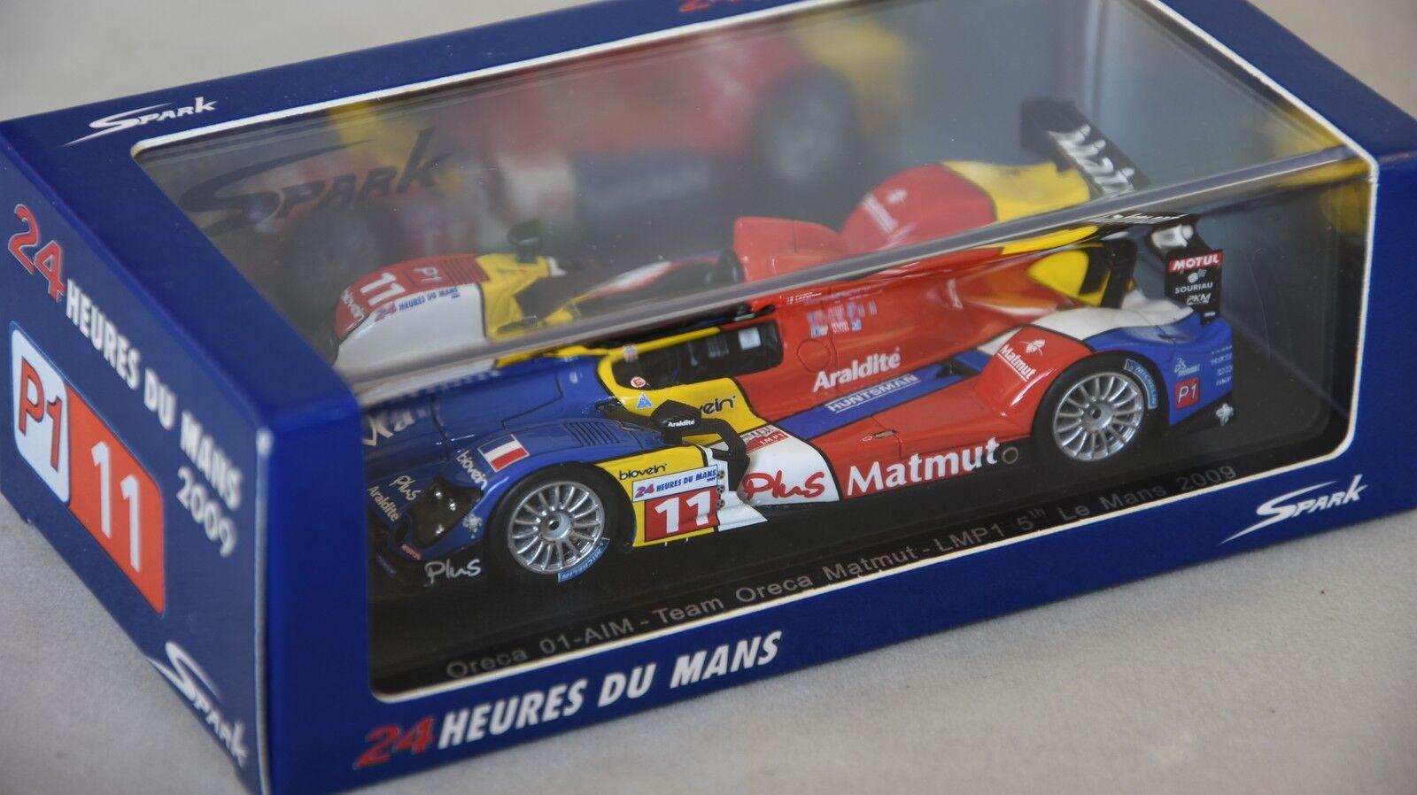 Spark S4551 - ORECA 01-AIM n°11 LMP1 Le Mans 2009 Panis - Lapierre - Ayari 1 43