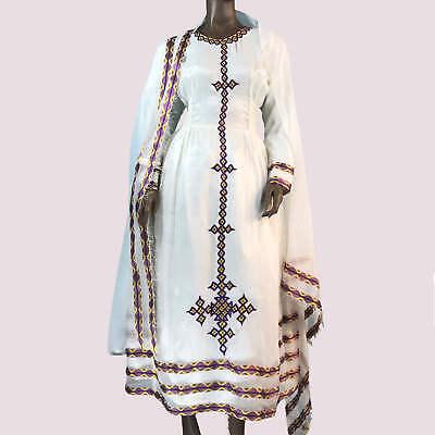 Traditional Ethiopian Habesha Dress Handmade embroidered