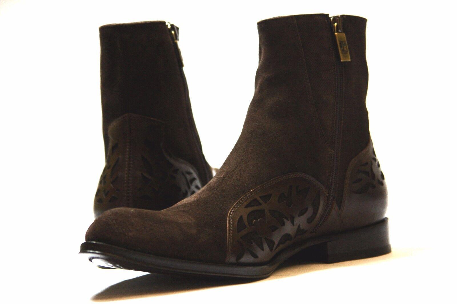 Jo Ghost 3550M Uomo Italian Brown Suede Suede Suede with Decorative Pelle Ankle Stivali edb7c5