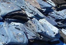 50 Pairs Blue Ladies Jeans Bulk Sale Many Brands Mixed Lots & Sizes (See F/backs
