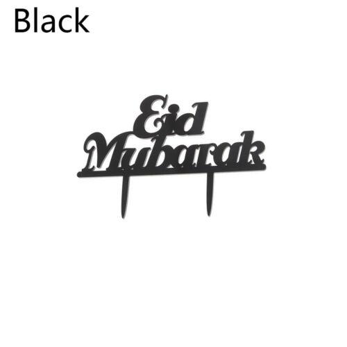 Eid Mubarak Ramadan Hochzeitstorte Topper Muslim Islam Glitter Hajj Dekore DE