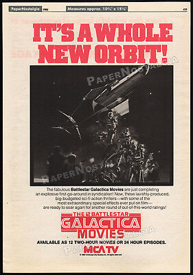Battlestar Galactica__original 1984 Trade Print Ad_tv Syndication Promo Collectibles Other Television Memorabilia Poster Activating Blood Circulation And Strengthening Sinews And Bones