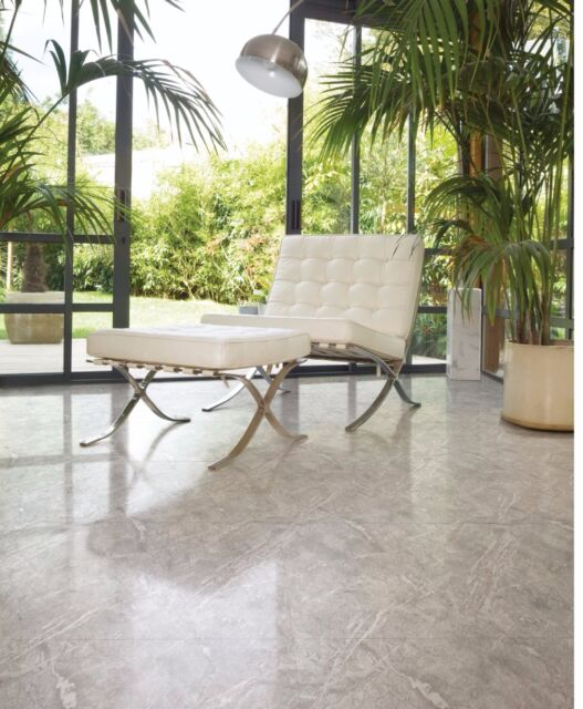 Glazed Polished Porcelain Tile 24x24 Iceberg Gray Grey Marble