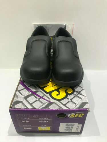 Size 3 SFC SHOES FOR CREWS SAFETY SHOE LUIGI STEEL TOE CAP 5210 UNISEX-BLACK