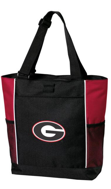 University Of Georgia Tote Bag Bulldogs For Beach Ping Groceries Poo