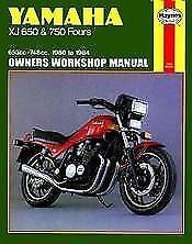 Yamaha XJ650 XJ750 Maxim Seca XJ 650 750 REPAIR MANUAL Owners Book on