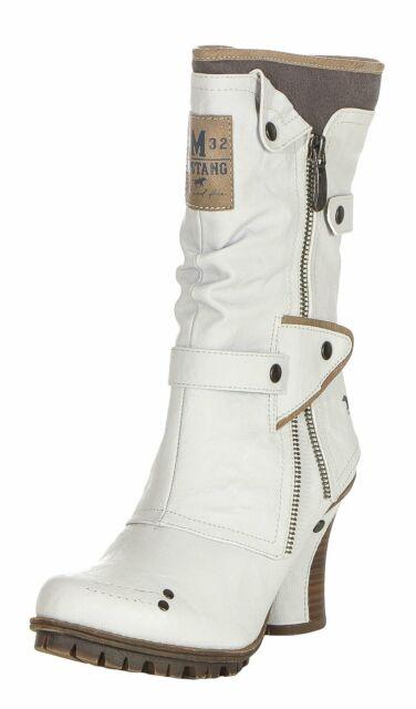 Details zu Mustang Damen Stiefel 1141606 100 weiß 545174