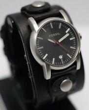 Vintage - Fossil JR-9767 Analog 39mm Wide Leather Cuff Strap Men's Wrist Watch