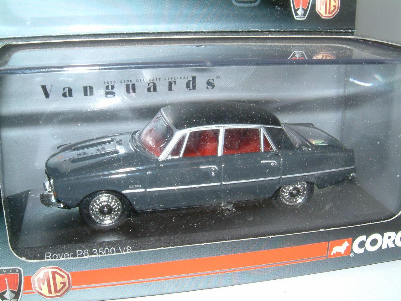 ROVER 3500 V8 P6 gris in città, Vanguards Corgi