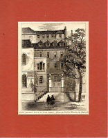 ANTIQUE WOODCUT -  JUDGE JEFFREYS' HOUSE -  CASSELL'S OLD & NEW LONDON(1880)