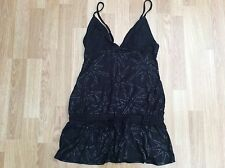 LADIES PLAYBOY BUNNY LONG DRESSY / LONG TOP BLACK SIZE 12