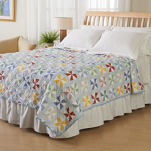 Ashley Cooper Windmill Quilt in TWIN, QUEEN or KING Größes