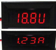 Mini RED LED Digital DC Combo Meter Voltage amp gauge 4-30V 0-2A  need no Power