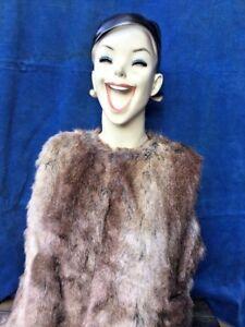 ZARA-Trafaluc-Faux-Fur-Vest-Jacket-Blazer-Coat-Bloggers-Womens-Size-Large-b1